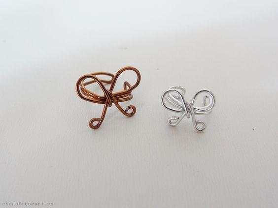 Papoulas douradas: DIY: Ear Cuff de Lacinho
