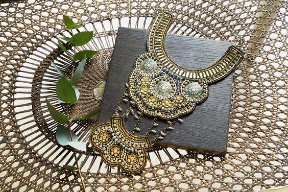 Mega embellished bohemian necklace by Miss Selfridge