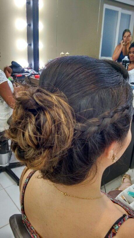 Penteado trança + coque