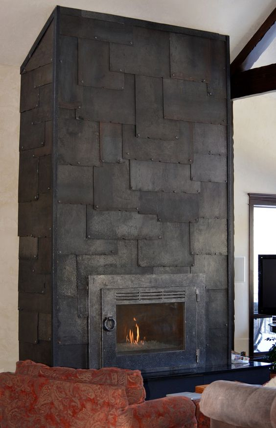 Fireplace Facade Ideas : explore fireplace facade metal fireplace and more metals montana steel ...