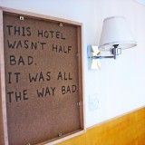 Comedian has been leaving secret (and hilarious) messages in hotels since 2006. More photos here: http://voyage-vixens.com/?p=5800