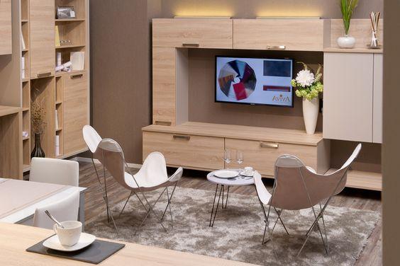 Meuble TV avec de nombreux rangements en bois Nos meubles TV