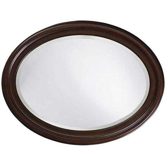 Howard Elliott George Chocolate Brown Mirror 40110