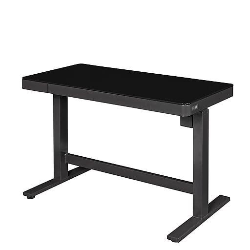 Bell O Park Edge Electric Adjustable Height Desk Black Glass