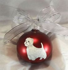 Westie West Highland Terrier Dog Ornament Hand Painted with name personalization