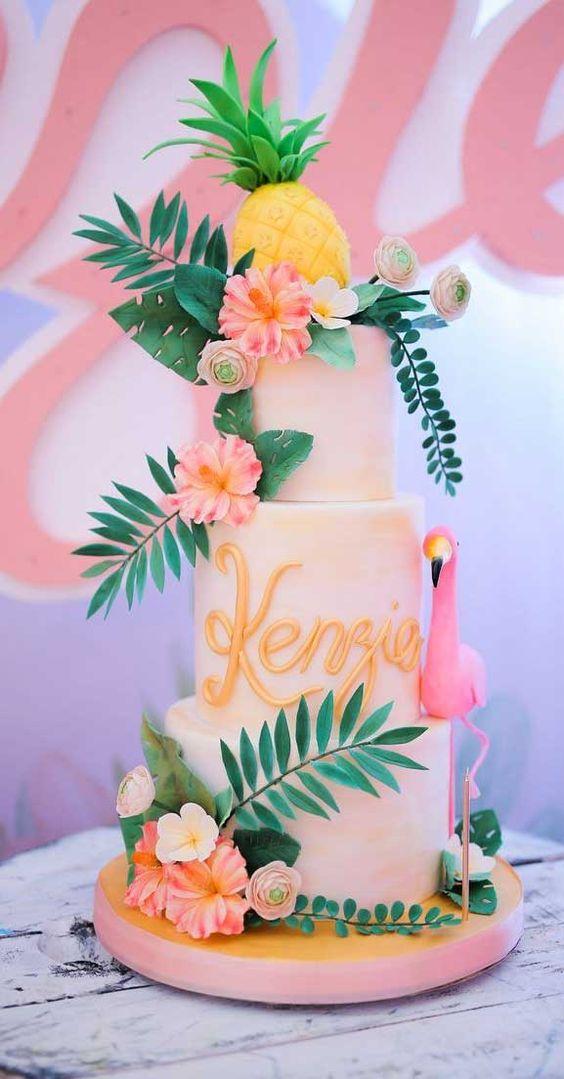 tropical wedding cake, tropical wedding cake flavors, tropical wedding cake topper, wedding cakes, wedding cake, wedding cake ideas, beach wedding cake , beach wedding cakes #weddingcakes #beachweddingcake #tropicalwedding