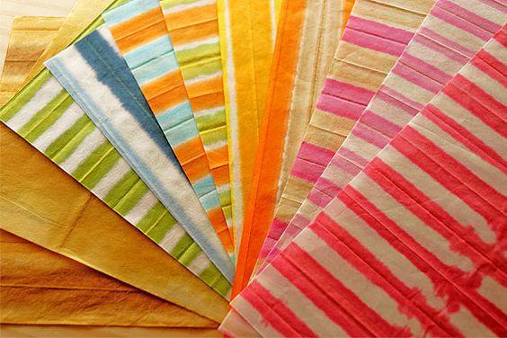 11 PiecesStriped pattern colors Japanese Paper by karaku on Etsy, ¥500: