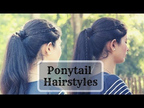 2 Cute Ponytail Hairstyles For School College Youtube Cute Ponytail Hairstyles Ponytail Hairstyles Hairstyles For School