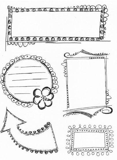 "KaiserCraft - 5.5""x7"" clear stamp set - Doodle Frames"