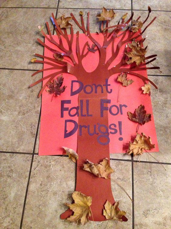 drug free poster red ribbon week school ideas