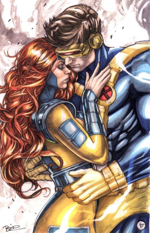 Jean Grey (Phoenix) & Scott Summers (Cyclops) by Adriana Melo and Jeff Balke