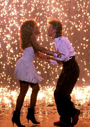David Bowie and Tina Turner performing together, 1985
