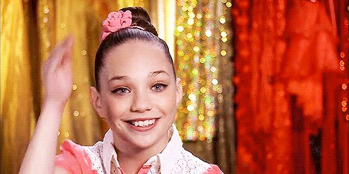 """… And for the infamous """"Maddie face"""" she pulls while dancing. 