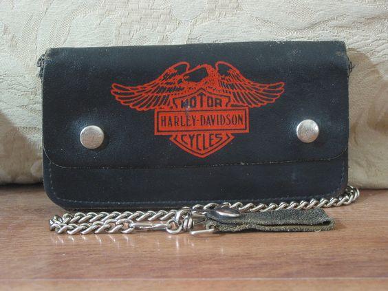 HARLEY DAVIDSON Original Licensed Product Eagle Logo Chain Leather Wallet  1.8P722B48717JUNK0264,65,66   http://ajunkeeshoppe.blogspot.com/