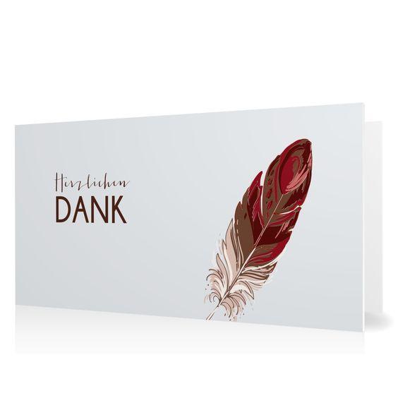 Dankeskarte Feder in Platin - Klappkarte flach lang #Trauer #Danksagungskarten #elegant #Foto https://www.goldbek.de/trauer/danksagungskarten/dankeskarte-feder?color=platin&design=d039a&utm_campaign=autoproducts