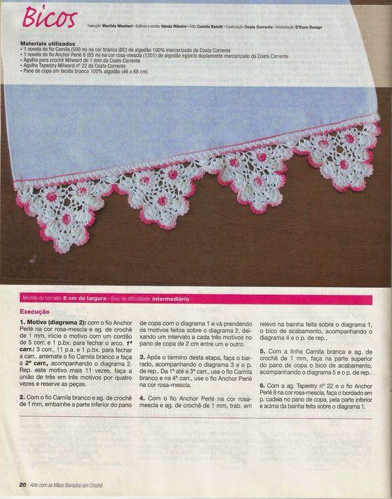 Mania-de-Tricotar: Barradinho em bicos  http://mania-de-tricotar.blogspot.com.br/