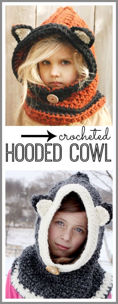 Free Crochet Pattern For Hooded Cowl With Ears : Crocheted Hooded Cowl, easy version Hooded Cowl, Cowls ...