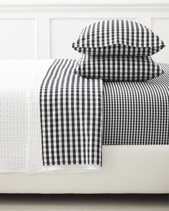 Ideias de roupas de cama xadrez em várias camas e tamanhos pra você se inspirar!