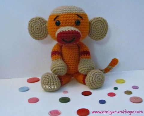 Free Pattern Amigurumi My Little Pony : Monkey, Sock monkeys and Sock monkey pattern on Pinterest