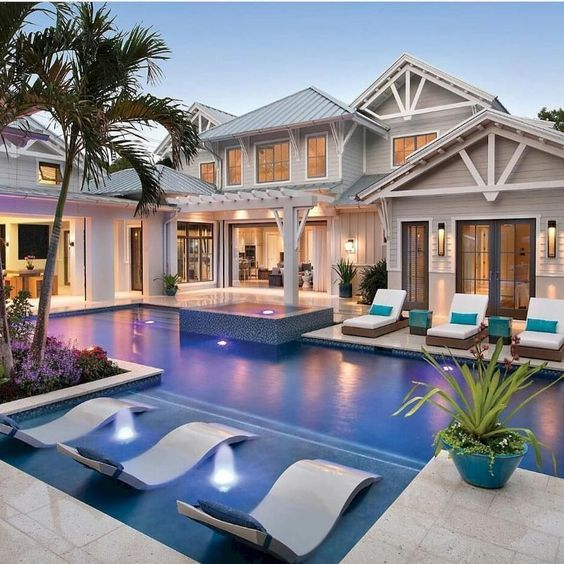 Piscinas De Agua Salada Conoce Sus Ventajas Dream House Exterior Luxury Homes Dream Houses Luxury Swimming Pools