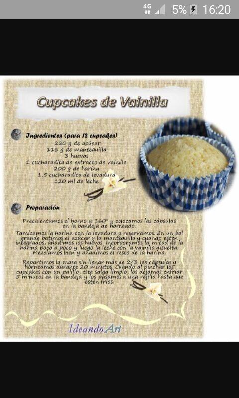 Pin De Mantis En Reposteria Panaderia Cupcakes De Vainilla