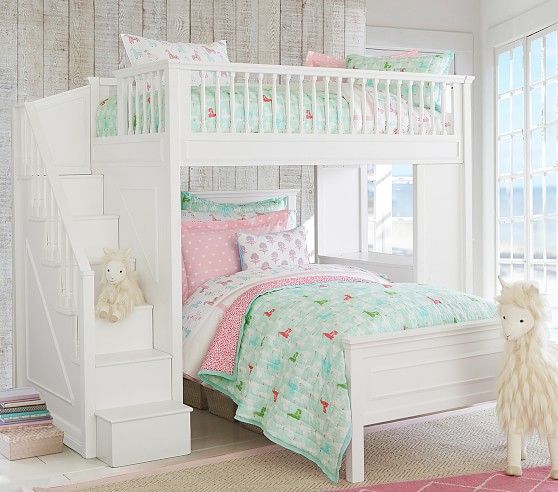 Fillmore Stair Loft Loft Bed Bunk Beds With Stairs Bedroom Design