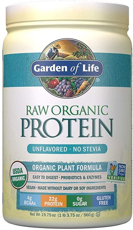 Amazon Com Garden Of Life Raw Organic Protein Unflavored Powder