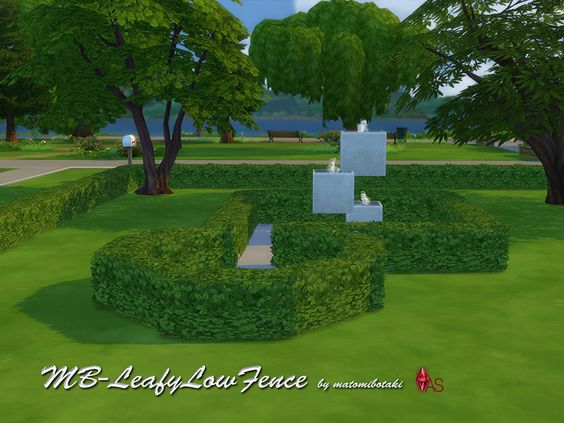 MB-LeafyLowFence  Niedrige Hecke, für die Sims 4, kreiert von matomibotaki.  Low hedge, for the Sims 4, done by matomibotaki.  https://www.allaboutsims.net/forum/index.php/Thread/15959-MB-LeafyLowFence/?postID=77722#post77722