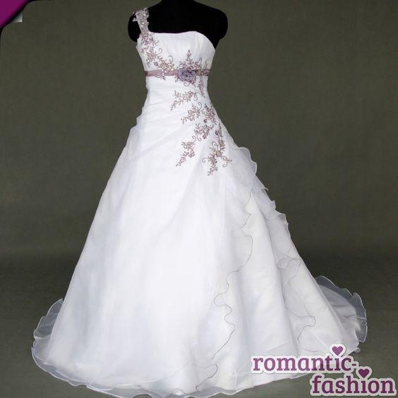 ♥Brautkleid, Hochzeitkleid in Weiß+Gr.34,36,38,40,42,44,46,48,50,52 od. 54+W066♥