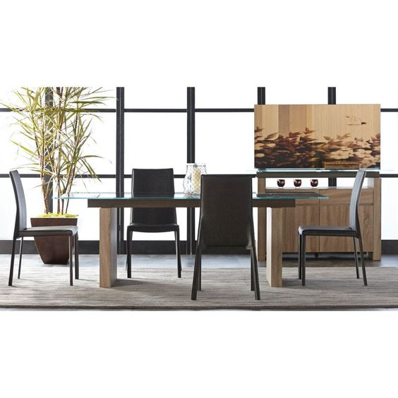 Star Interantional Furniture Trave 5 Piece Dining Table Set with Luca Chairs - SRI129
