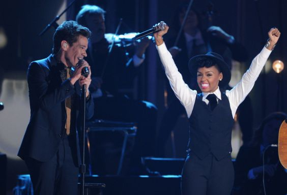 """Fun.'s Nate Ruess and Janelle Monáe perform on """"The GRAMMY Nominations Live!! — Countdown To Music's Biggest Night"""" on Dec. 5 in Nashville.  Tune in to the 55th GRAMMY Awards on 2/10/13 on CBS! #TheWorldIsListening  Photo: Kevin Winter/Getty Images"""