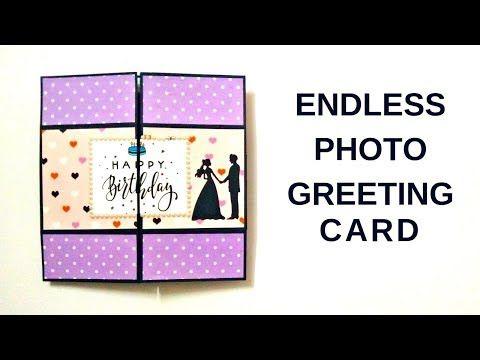 How To Make Endless Photo Card Diy Mini Photo Album Scrapbook Easy Photo Greeting Card Youtube Photo Cards Diy Mini Photo Albums Photo Album Scrapbooking