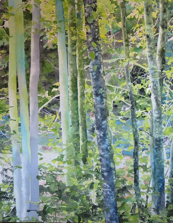 painting the trees texture