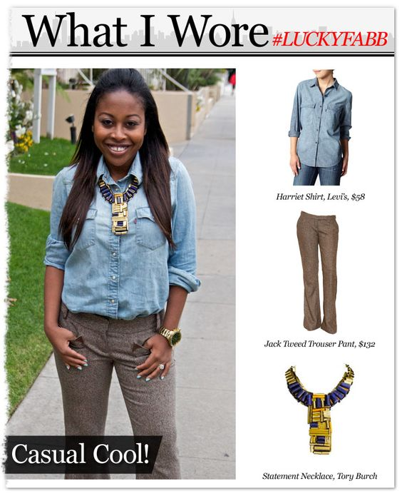 What I wore to the #LUCKYFABB West conference! http://bit.ly/InTCtf