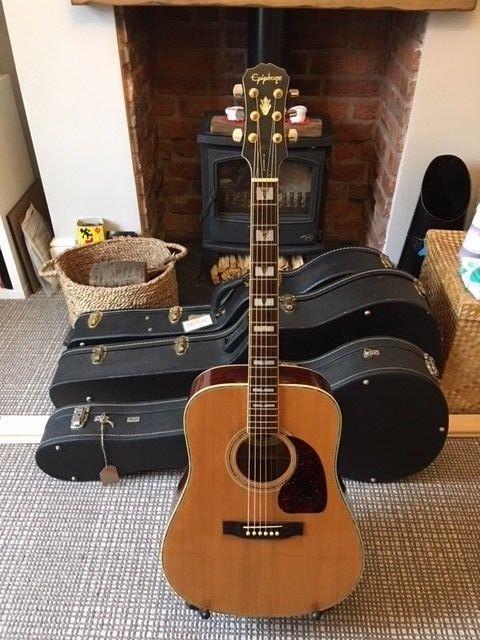 Vintage 1993 Epiphone Pr 775 S Acoustic Guitar Acousticguitar Guitar Epiphone Acoustic Guitar