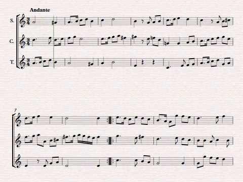 Galiardo de William Byrd. Partitura para flauta dulce. Renacimiento.