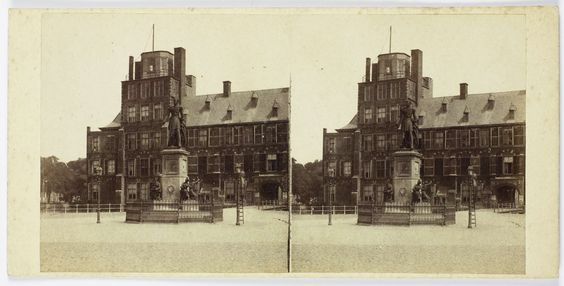 Anonymous | 's Gravenhage, Standbeeld Willem II, Anonymous, 1854 - 1870 |
