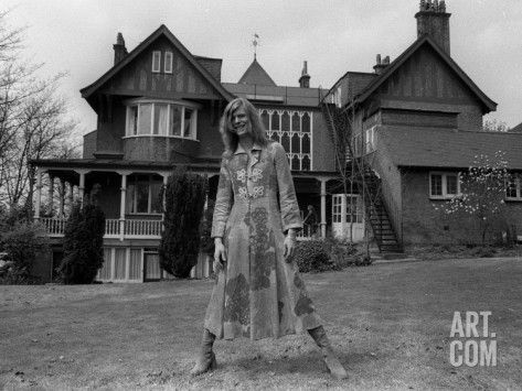 David Bowie Outside His Home, April 1971 Reproduction photo