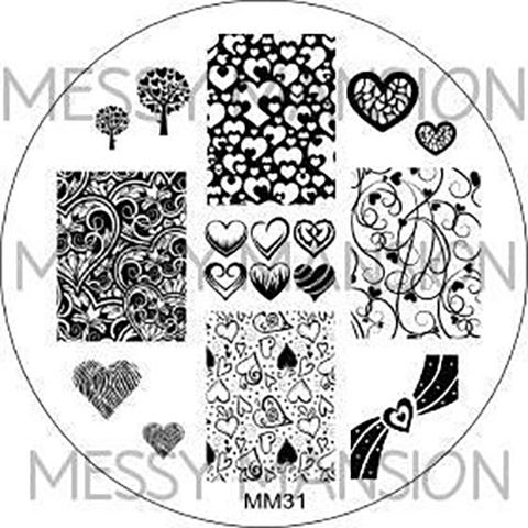 Messy Mansion Image Plate MM31