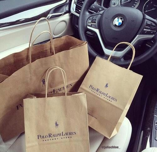 Polo Ralph Lauren shopping bags