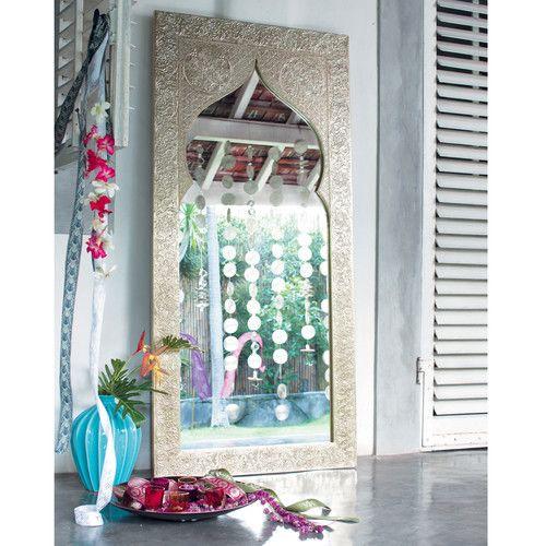 Miroir en bois h 160 cm latipur oriental deco pinterest for Miroir oriental