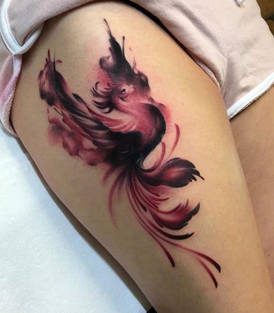 Ave Fénix - Tatuajes para Mujeres