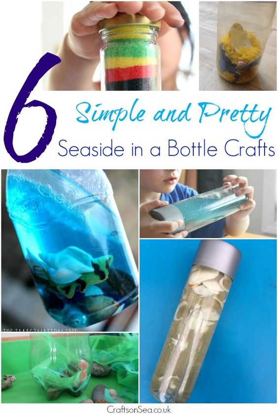 These gorgeous looking seaside in a bottle crafts are simple for kids to make and enjoy. Sensory play, scientific learning and beautiful bottles you'll love