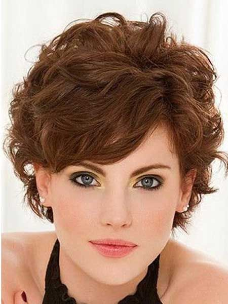 Peachy Short Curls Frizzy Hair And Curls Hair On Pinterest Hairstyles For Women Draintrainus