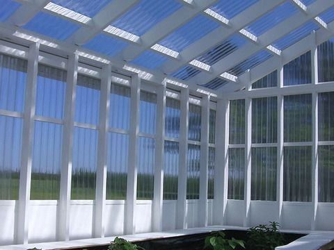 Tuftex Polycarb 2 17 Ft X 12 Ft Corrugated Polycarbonate Plastic Roof Panel Lowes Com 1000 In 2020 Greenhouse Diy Greenhouse Roof Panels