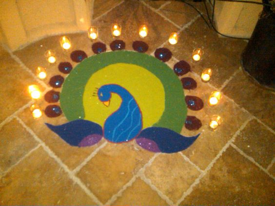 Rangoli For Diwali 2011 That I Made :o)