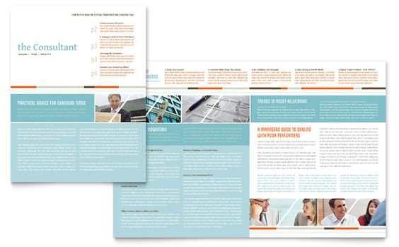 management consulting newsletter design template by stocklayouts