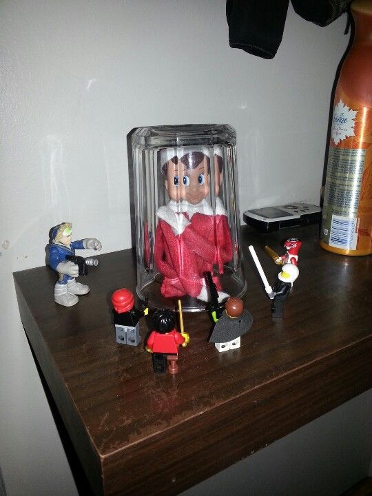 Elvis was busted coming home fron the north pole, by the lego soldiers
