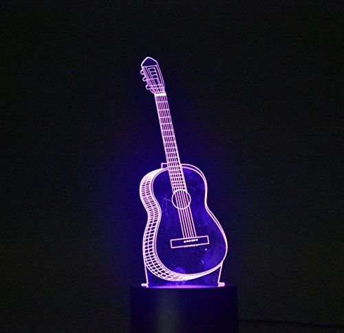 3d Light Optical Illusion Desk Light Table Lamp Smart Home Night Lights 7 Colors Change Guitar Night Lamps Light Colors Desk Light