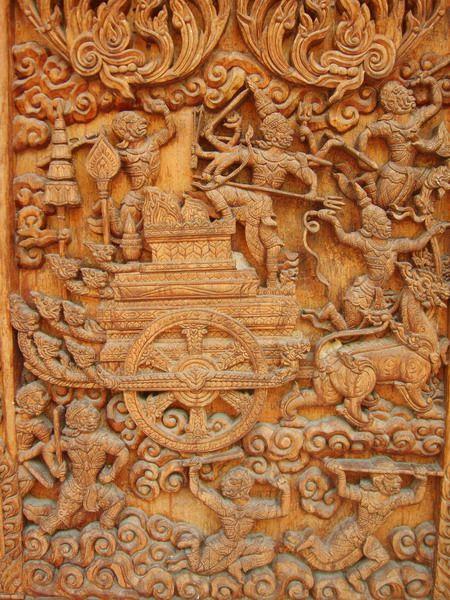 WOW! Hand carved teak doors in Thailand.